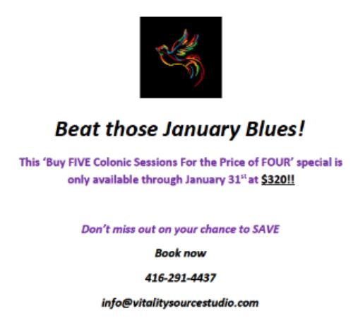 Beat those January Blues!
